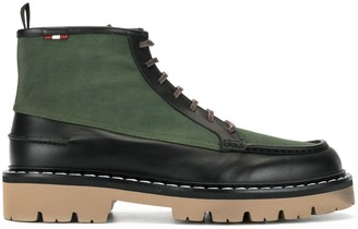 Bally Contrast-Panel Track Sole Boots