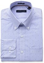 Tommy Hilfiger Men's Non Iron Regular Fit Stripe Buttondown Collar Dress Shirt