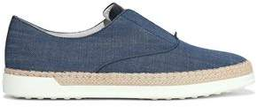 Tod's Leather-trimmed Denim Slip-on Sneakers