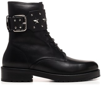 RED Valentino Sky Combat Boots