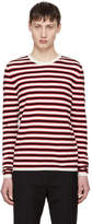 Saint Laurent Red and White Striped Sweater