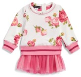 Kate Mack Infant Girl's Floral Print Sweatshirt Tutu Dress