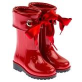 Igor IgorGirls Red Campera Ribbon Tie Rain Boots