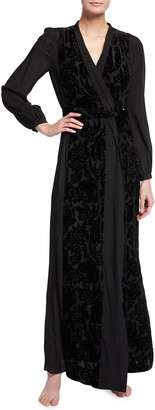 Myla De Beauvoir Square Long Silk Robe