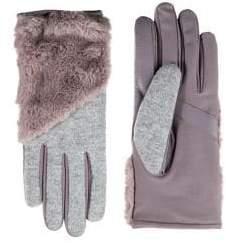 Isotoner Women's Faux Fur-Trim SmarTouch Gloves