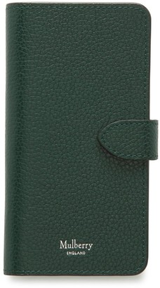 Mulberry iPhone Flip Case Deep Amber Small Classic Grain