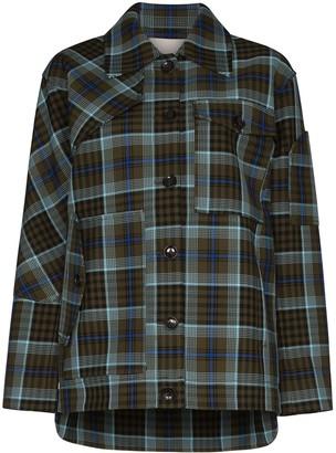 Tibi Spencer plaid jacket