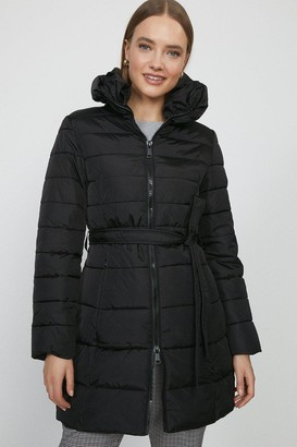 Coast Zip Up Oversized Collar Puffer Coat
