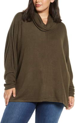 Dantelle Cowl Neck Dolman Sleeve Knit Top