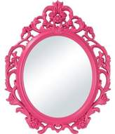 Better Homes & Gardens Better Homes and Gardens Baroque Oval Wall Mirror Fuchsia