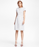 Brooks Brothers Cotton Polka Dot Dress