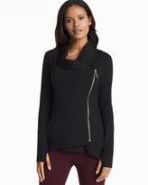 White House Black Market Asymmetrical Zip-Front Black Jacket