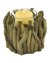 Fashion World Natural Driftwood Candle Holder