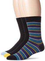 Ben Sherman Men's 3 Pack Clive Crew Socks, Royal, 9-12