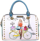 Nicole Lee Women's Spring Ride Print Boston Shoulder Bag