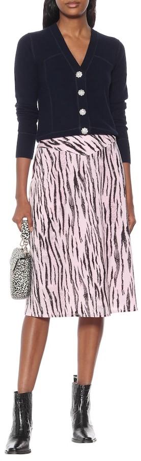 Thumbnail for your product : Baum und Pferdgarten Exclusive to Mytheresa Senga tiger-print midi skirt