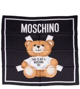 Moschino Cut Out Bear Scarf
