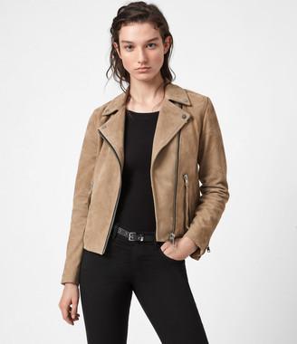 AllSaints Suede Dalby Biker Jacket