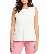 Preston & York Leanna Round Neck Sleeveless Solid Top