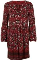 River Island Womens Red long sleeve floral print swing dress