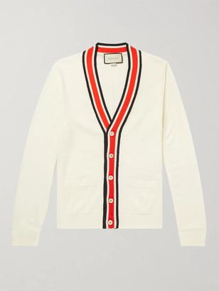 Gucci Slim-Fit Striped Wool Cardigan