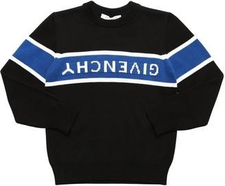 Givenchy Logo Intarsia Knit Cotton Sweater