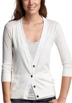 Gap Silk-trimmed cardigan