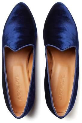 Le Monde Beryl Midnight Blue Velvet Venetian Slipper