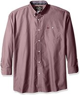 Wrangler Men's Big and Tall George Strait One Pocket Long Sleeve Solid Woven Shirt