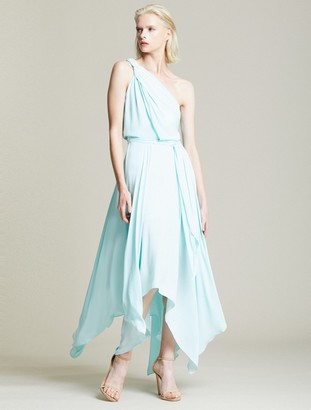 Halston Braided Strap Gown