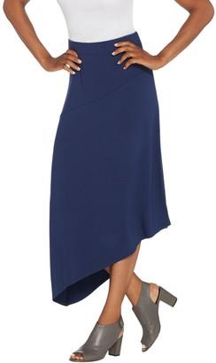 Lisa Rinna Collection Solid Midi Skirt