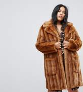 Asos Midi Coat in Pelted Faux Fur