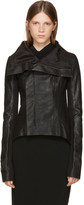 Rick Owens Black Leather Naska Biker Jacket