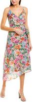Yumi Kim Silk-Blend Midi Dress