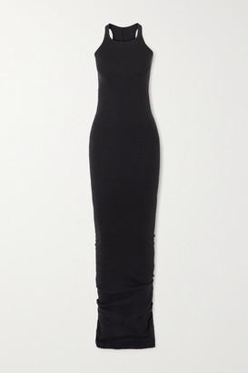 Rick Owens Ribbed Cotton-jersey Maxi Dress - Black