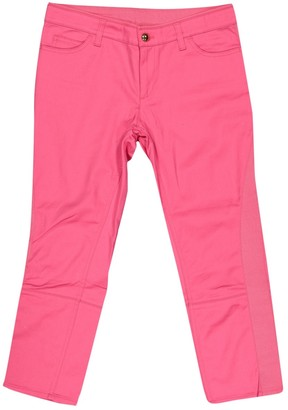 Louis Vuitton Pink Cotton Trousers for Women