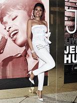 New York & Co. Soho Jeans - Jennifer Hudson Zip-Accent Seamed High-Waist Curvy Legging - White