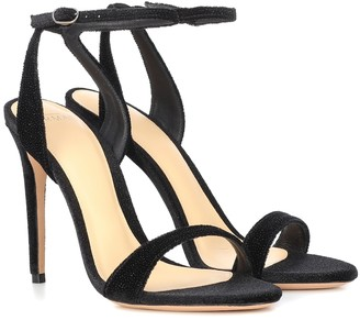 Alexandre Birman Willow velvet sandals
