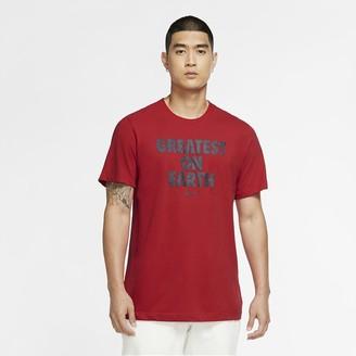 "Nike Men's Basketball T-Shirt Dri-FIT ""Greatest On Earth"""