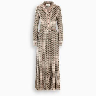 Gucci Long Square G lame dress