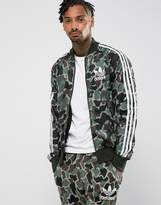 adidas Superstar Camo Track Jacket In Green Cd9303