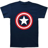 Impact Captain America Marvel Superhero Comics Shield On Navy Adult T-Shirt Tee