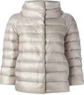 Herno cropped sleeve padded jacket - women - Feather Down/Polyamide - 40