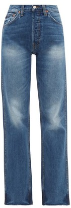 RE/DONE High-rise Straight-leg Jeans - Blue