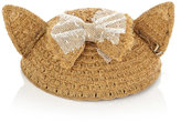 Maison Michel Bibi Yoko cat ears straw hat