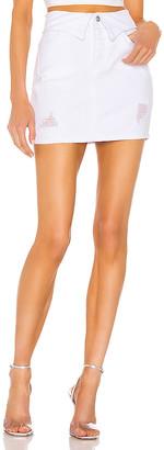 superdown x Draya Michele Solare Denim Mini Skirt. - size L (also