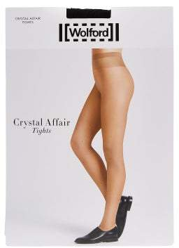 Wolford Crystal Affair Tights - Womens - Black