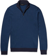 Ermenegildo Zegna - Cotton And Silk-blend Half-zip Sweater