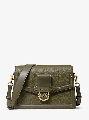 Michael Kors Jessie Medium Pebbled Leather Shoulder Bag