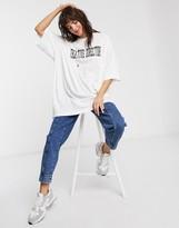 Weekday Huge organic cotton Creative Director slogan t-shirt in white